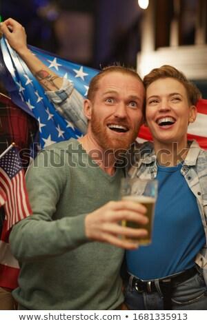 мнение счастливым американский флаг Сток-фото © wavebreak_media
