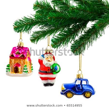 árbol de navidad juguete forma rojo coche árbol Foto stock © furmanphoto