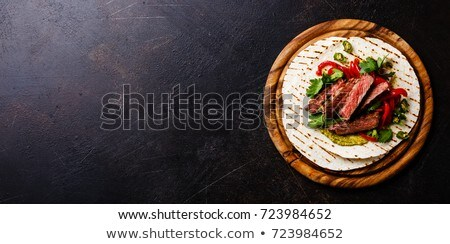 Sandviçler ızgara biftek çan Stok fotoğraf © Alex9500