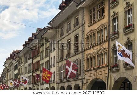 Geleneksel pencere Bina İsviçre detay seyahat Stok fotoğraf © boggy