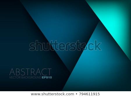 抽象的な 白 バナー 青 三角形 ストックフォト © SArts