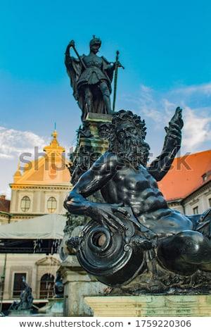 噴水 ミュンヘン ドイツ 家 市 金属 ストックフォト © boggy