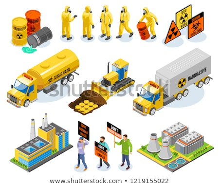 Nuclear Waste Container isometric icon vector illustration Stock photo © pikepicture