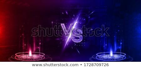 Rood Blauw licht vs scherm Stockfoto © SArts