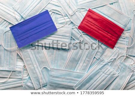 республиканский красный демократ синий медицинской лице Сток-фото © feverpitch