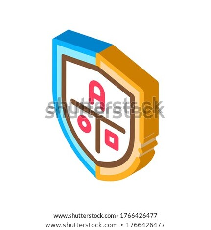Academy Emblem Logo isometric icon vector illustration Stock photo © pikepicture