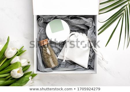 Hediye ayarlamak sabun yalıtılmış beyaz temizlemek Stok fotoğraf © Borissos