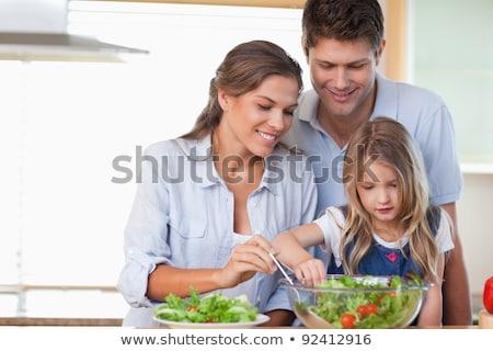 vegetal · família · engraçado · desenho · animado · vetor - foto stock © wavebreak_media