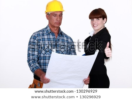 Architect and foreman giving the go-ahead Stock photo © photography33