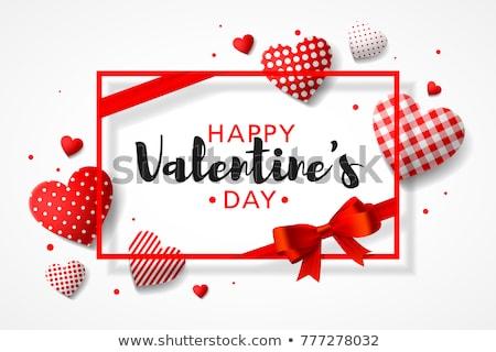 Valentin nap nap szerelmespár ajándékok szenvedélyes piros Stock fotó © BrunoWeltmann