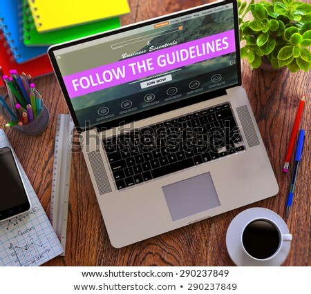 Follow the Guidelines Concept on Modern Laptop Screen. Stock photo © tashatuvango