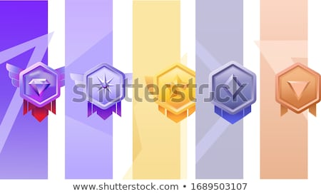 Medal Yellow Vector Icon Button Stock photo © rizwanali3d