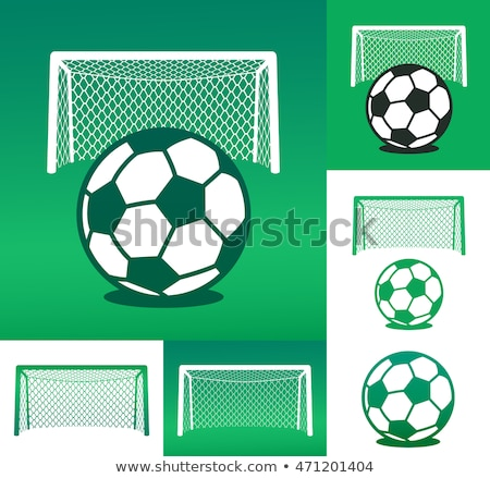 Graphic advertising design composed of soccer ball Stock photo © adrian_n