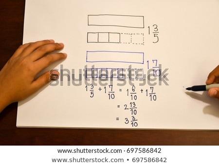 Okul tahta kelime sorunları ahşap masa eğitim Stok fotoğraf © fuzzbones0