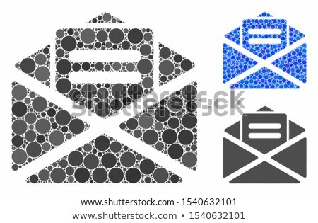 Open mail flat blue color rounded vector icon Stock photo © ahasoft