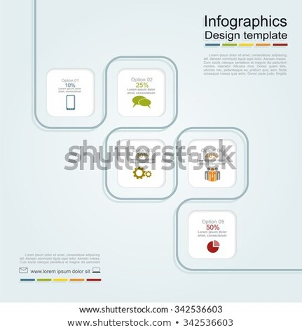 Five rectangle - five steps stock photo © Oakozhan