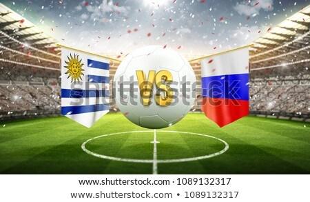 Uruguay soccer football ball. Soccer stadium. 3d rendering Stock photo © Wetzkaz
