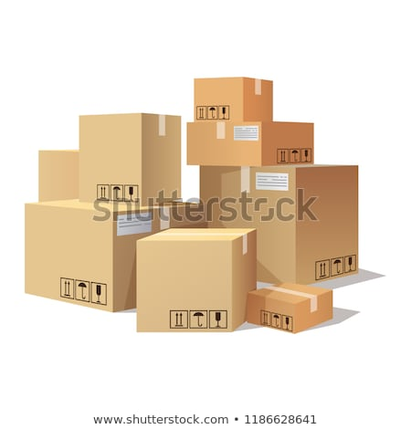 Many cartons,boxes of different size, pile of package Stock photo © MarySan