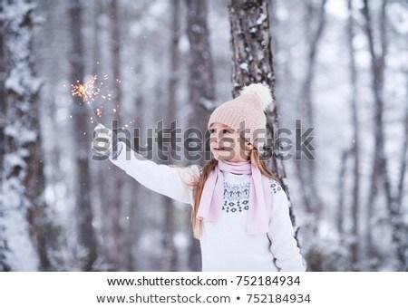 cute · meisje · winter · leuk · genieten · vers - stockfoto © Illia