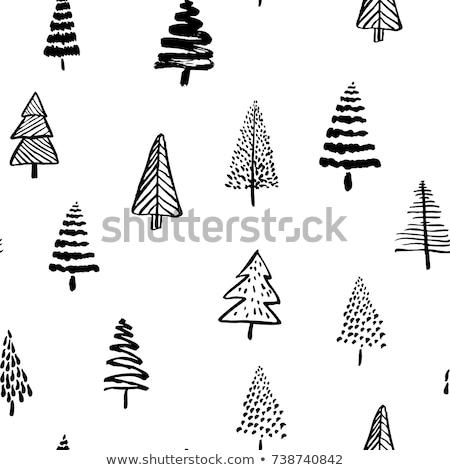 hand drawn christmas tree for festive season Stock photo © SArts