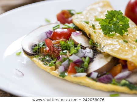 Omelet with veggies  Stock photo © grafvision