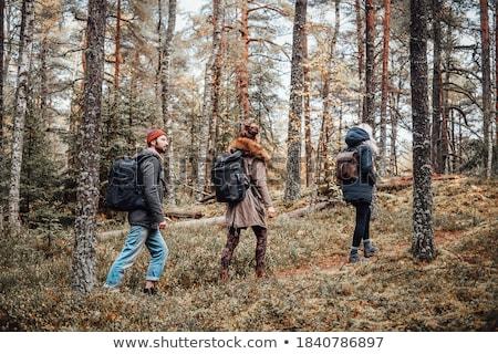 iki · kadın · arkadaşlar · yürümek · sonbahar - stok fotoğraf © monkey_business