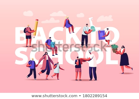 A School class with student and teacher. Stock photo © Lopolo