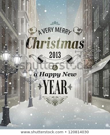 открытки Рождества фары элегантный Сток-фото © ussr