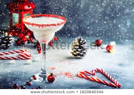 Eggnog. Traditional christmas cocktail Stock photo © karandaev