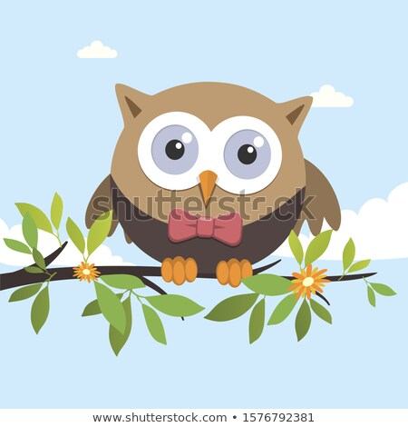 Male owl on a spring day Stock photo © Imaagio