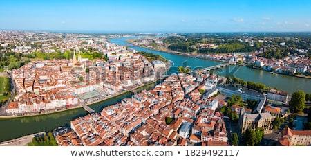 Straat Frankrijk historisch huizen stad centrum Stockfoto © borisb17
