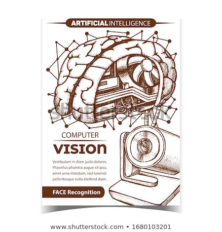Ordenador visión creativa publicidad banner vector Foto stock © pikepicture
