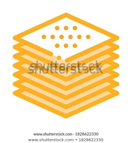 stack of tiles icon vector outline illustration Stock photo © pikepicture