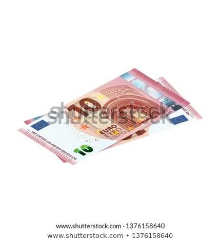 Pareja 10 euros billetes vista Foto stock © evgeny89
