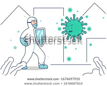 Antibody Fighting Virus Stock photo © Lightsource