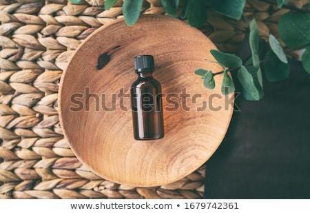 Top view of essential oil bottle of natural eucalyptus oils Stock photo © Maridav