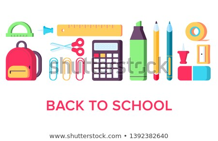 School Supplies in Bag, Satchel with Books Web Stock photo © robuart