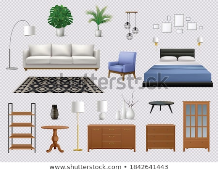 Set of Home Interior Furniture Pieces Vector Image Stock photo © robuart