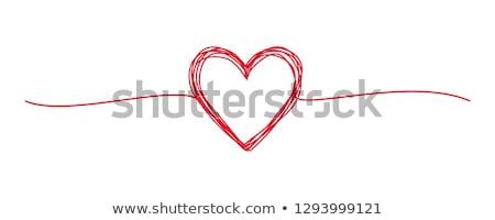 vector red valentine heart stock photo © x-etra