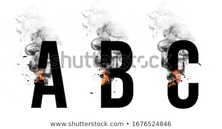 Stock photo: fire small letter b