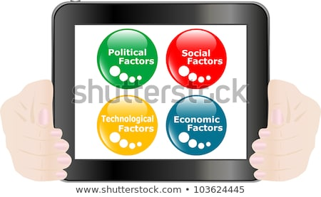 Button Pest Analysis Concept Icon On Digital Tablet Pc Stock fotó © fotoscool