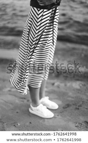искусства фото блондинка модель ходьбе женщины Сток-фото © konradbak
