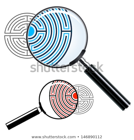 Magnifying glass over a labyrinth Stock photo © adrian_n