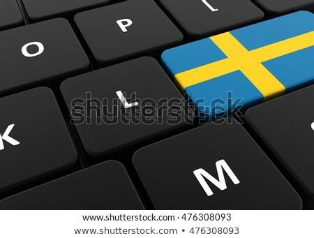 スウェーデン フラグ ボタン 黒 キーボード コンピュータのキーボード ストックフォト © tashatuvango