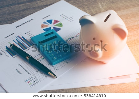 Calculadora dinero intercambio oficina pluma efectivo Foto stock © Zerbor