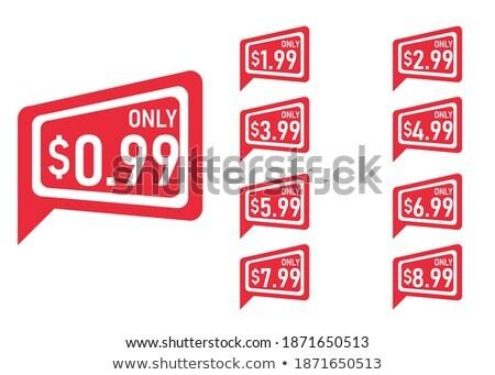 Shopping Sign Square Vector Red Icon Design Set 2 Stock photo © rizwanali3d