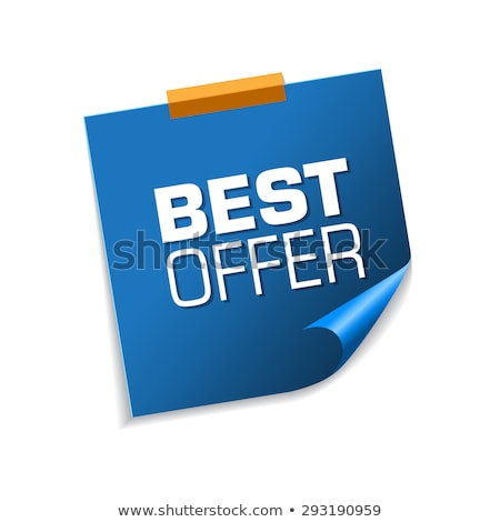 Best Deal Blue Sticky Notes Vector Icon Design Stock photo © rizwanali3d
