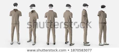 positive man in classic clothing isolated on gray stock photo © elnur