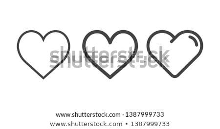 Szív ikon illusztráció felirat terv egészség Stock fotó © kiddaikiddee