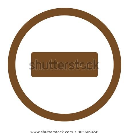 Mínusz barna szín ikon szimbólum rajzolt Stock fotó © ahasoft